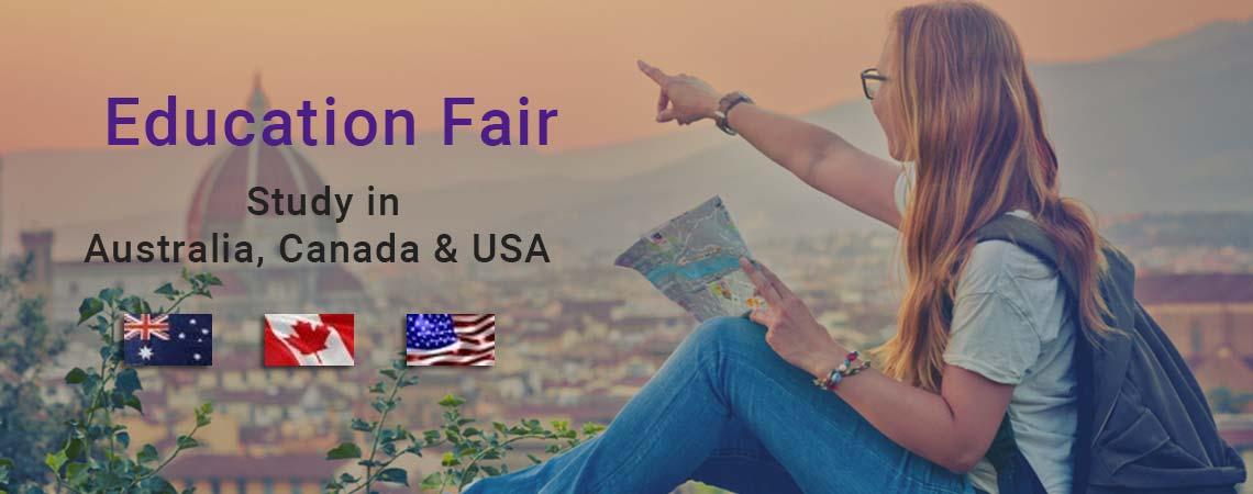 Attend Education Fair for Australia, USA & Canada